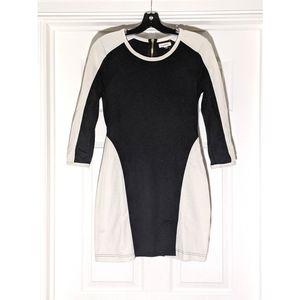 3/$35 UO Colorblock Black White Bodycon Dress